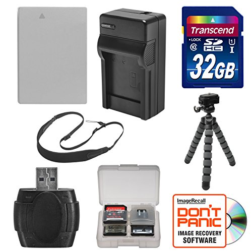 NB-10L Battery & Charger + 32GB SD Card, Tripod & Strap Essential Bundle for Canon PowerShot G15, G16, G1 X, SX60 HS Digital Camera (Cameras Sx 50 compare prices)