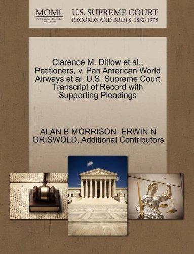 clarence-m-ditlow-et-al-petitioners-v-pan-american-world-airways-et-al-us-supreme-court-transcript-o