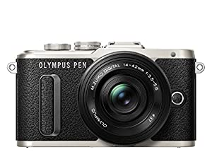 Olympus PEN E-PL8 Pancake Zoom Kit - Black
