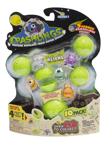 Crashlings, Series 1 Mini Figures, Aliens - 10 Pack - Random Selection - 1