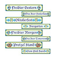 Oktoberfest Sign Cutouts Party Accessory (1 count) (4/Pkg) by PMU