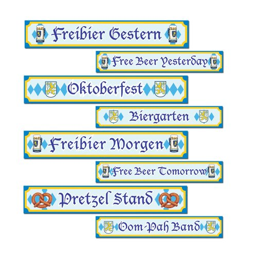 Oktoberfest Sign Cutouts   (4/Pkg)