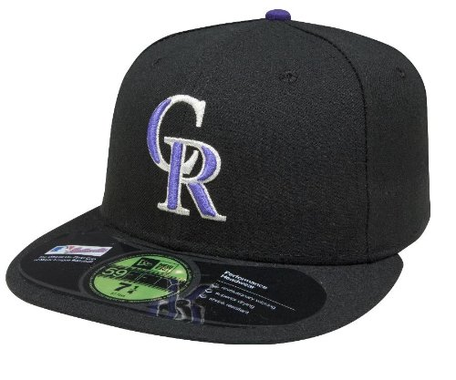 MLB Colorado Rockies Authentic On Field Game 59FIFTY Cap, 7 5/8, Black / purple silver logo at Amazon.com