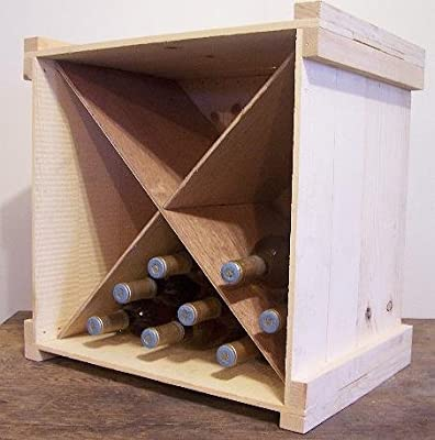 Wooden Wine or Beverage Bottle Storage Box with Divider