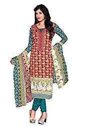 Fashiondiya Printed Unstitched Mix Cotton Dress Material