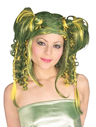 Rubie's Costume Camo Diva Wig, Green, One Size
