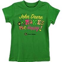 "John Deere ""Makes Me Happy"" Green Girls T-Shirt (6)"