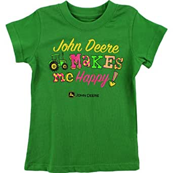 John Deere Girls Green T Shirt Sqs725g 14 16