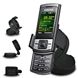 Fone-Case Samsung C3050 In Car Mini 360 Rotating Windscreen Cradle Mount Mobile Phone Holder