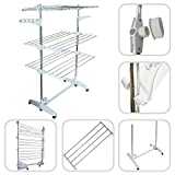 Todeco - Clothes Airer - 3 Tier Foldable Laundry Drying Rack