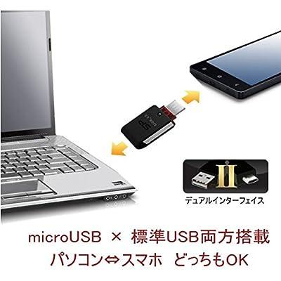 Silicon Power X31 32GB Android Dual USB Flash Drive, Silver/Black (SP032GBUF3X31V1K)