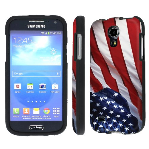NakedShield Verizon Samsung Galaxy S4 Mini (Flag America Pride) Total Hard Armor Art Phone Case (Samsung Galaxy S4 Mini Decal compare prices)