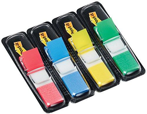 post-it-haftstreifen-683-4-index-mini-4-x-35-haftstreifen-im-spender-119-x-432-mm-rot-blau-gelb-grun