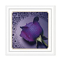 Diamond Stitch Water Rose Purple Cross Stitch Cross Stitch 5D