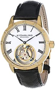 Stuhrling Original Men's 312S.3335X15 Tourbillon Diamond Dominus Limited Edition Mechanical Gold Tone Watch