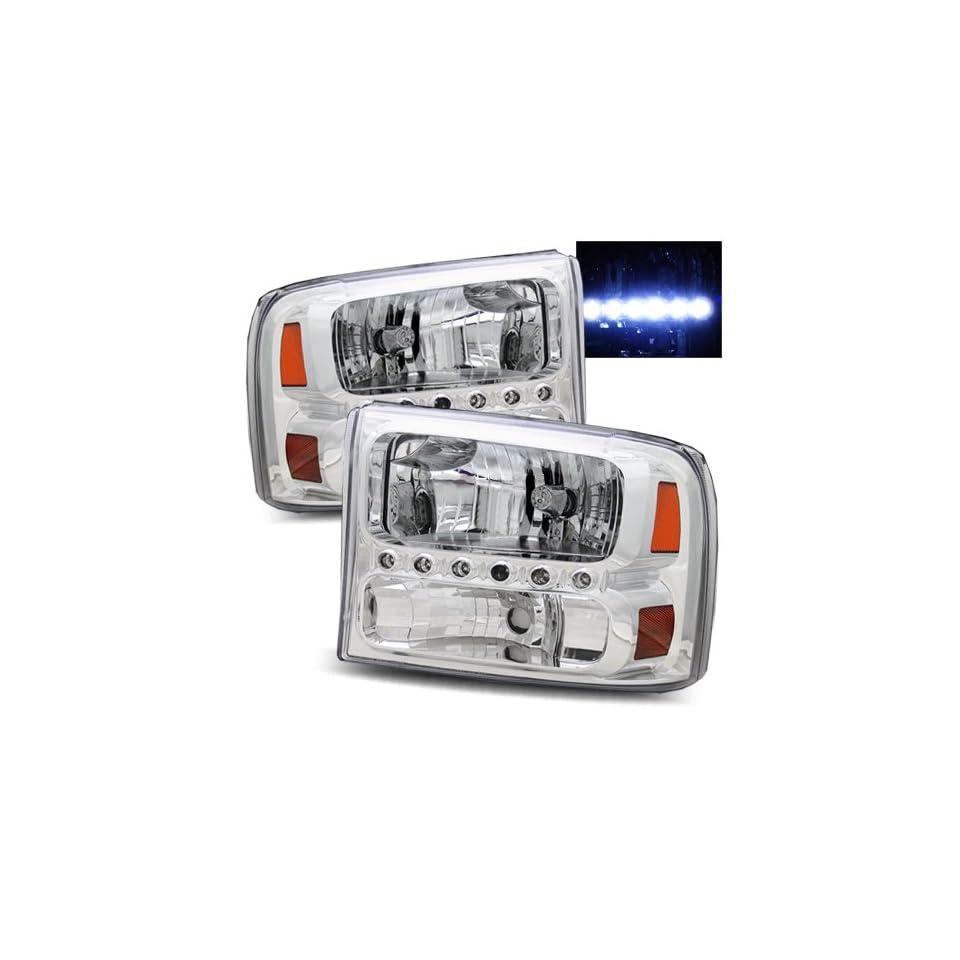 Ford F 350 Super Duty 1999 2004 Headlights Chrome (Fits All)