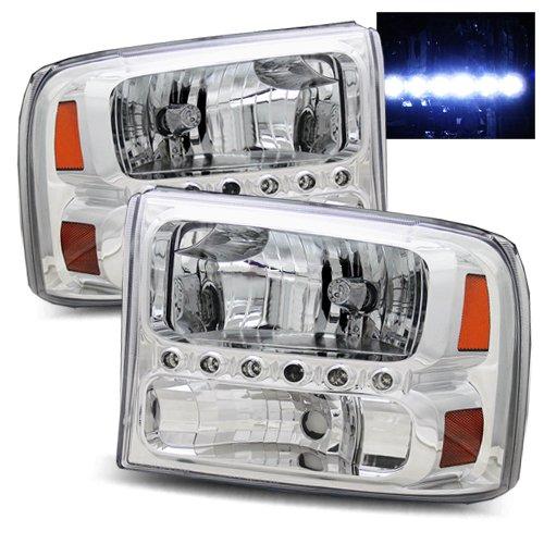 1999-2004 Ford Super Duty Led Headlights /W Amber (Chrome)