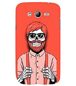 TOUCHNER (TN) Red Skeleton 2 Back Case Cover for Samsung Galaxy Grand