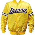 Los Angeles Lakers NBA Men's Starter Satin Full Button Jacket - Yellow (Large)
