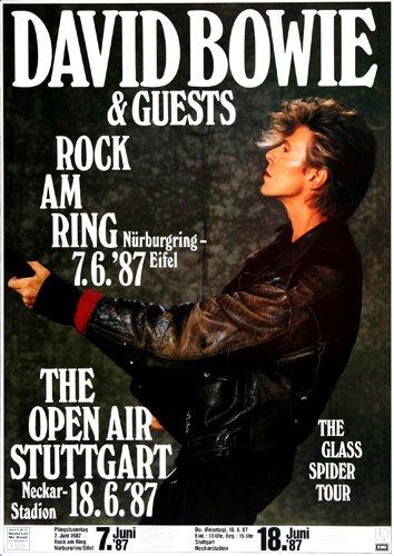 David Bowie Glass Spider 1987 - original concert poster