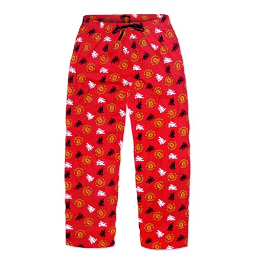 Manchester United Football Soccer Gift Mens Lounge Pants Pajama Bottoms Red S