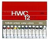 ホルベイン  透明水彩絵具 12色セット W440 15ml(5号)