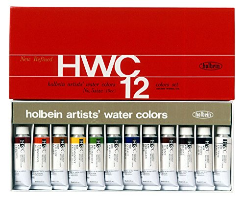 12-color-set-holbein-transparent-watercolors-japan-import