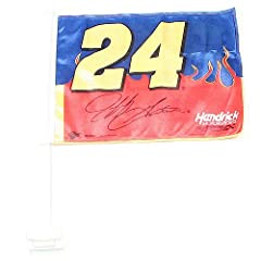 NASCAR Jeff Gordon #24 Car Flag with Window Mounting Bracket by Nascar