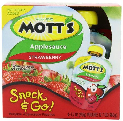 MOTT'S Apple Sauce, Strawberry, 3.2-Ounce (Pack of 2)