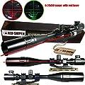 Ledsniper®2 in 1 useful 6-24x50 Tactical Rifle Scope R/g Mil-dot w/ Pepr Mount + Sunshade + Laser Sight from Ledsniperus Seller