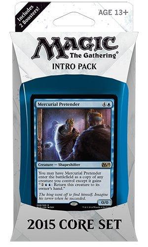 Magic-the-Gathering-MTG-2015-Core-Set-M15-Intro-Pack-Theme-Deck-Mercurial-Pretender-BlueGreenIncludes-2-Booster-Packs