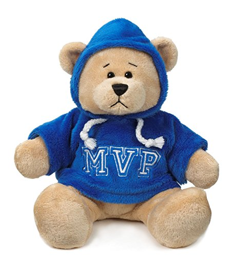 "Ganz 9"" Mvp Hoodie Bear Plush Toy, Blue"
