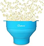 Salbree Collapsible Silicone Microwave Popcorn Popper, Turquoise