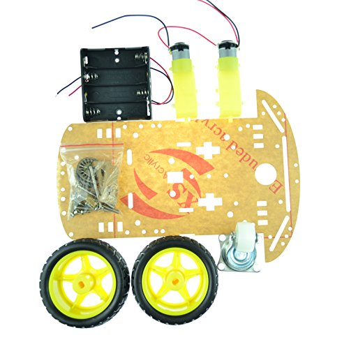 2WD Smart Robot Car Chassis Kit/Speed encoder Battery Box Arduino 2 motor 1:48 (2wd Robot Car compare prices)