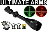 Ultimate Arms Gear 10-40X50 Dual Red & Green Iluminated Tactical AOE Rangefinder Rifle Hunting Sniper Scope + Premium 7/8