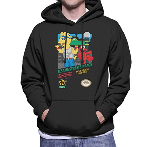 Sesame Streets of Rage Men's Hooded Sweatshirt