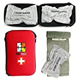 Prep Trust Emergency First Aid Israeli Battle Dressing Compression Bandage, (Two 6 Inch Bandages with Case-Red)