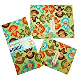 SnackTaxi Reusable Sandwich-sack Bag, Snack-sack Bag and Twice-as-nice Napkin Monkeys Set.