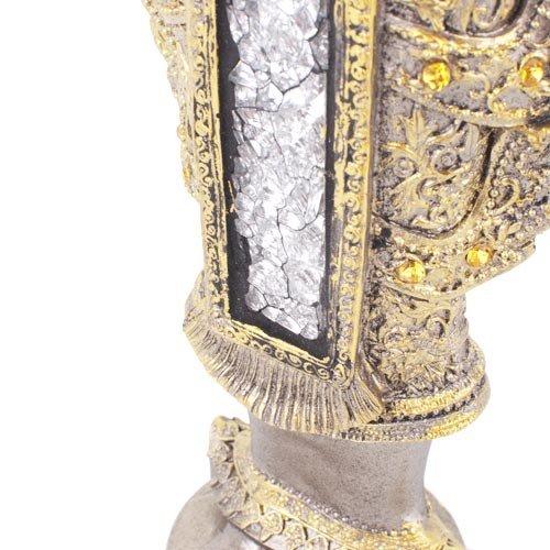 Figura buda portavelas dorado 33.5x16x7.5 cm.