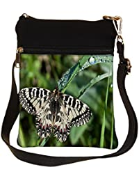 Snoogg Mixed Color Butterfly Cross Body Tote Bag / Shoulder Sling Carry Bag