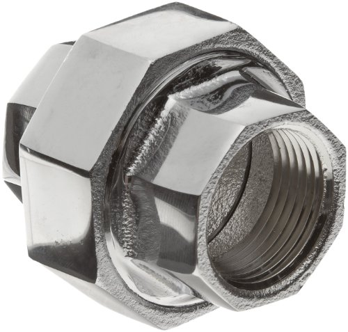 Chrome Plated Brass Pipe Fitting, Union, 1/2