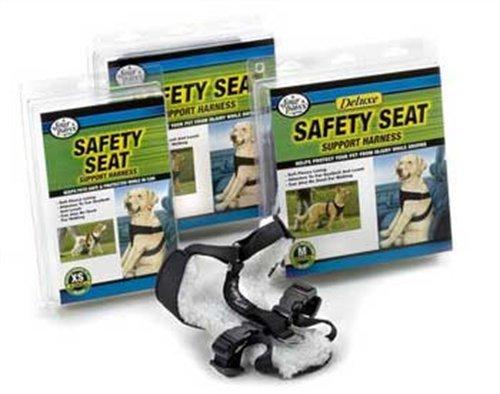 Safety Seat Vest Harness, Medium, Black front-42601