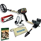"FISHER F4 COINS GOLD METAL DETECTOR W/11"" DD COIL - PINPOINTER, HEADPHONES, FINDS POUCH, TROWEL PLUS"