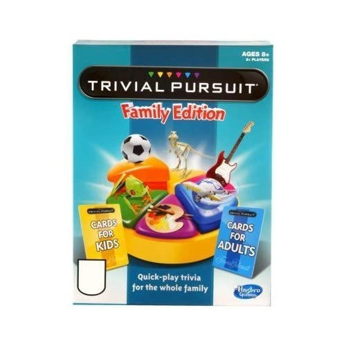 TRIVIAL PURSUIT Quick-Play Family Edition by Hasbro Gaming TOY (English Manual) als Geschenk