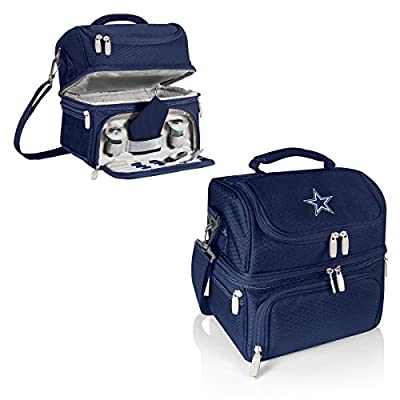 NFL Dallas Cowboys Pranzo Insulated Lunch Tote, Navy, 12 x 11 x 8-Inch