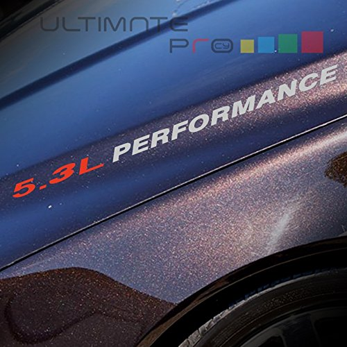 2x 5.3L PERFORMANCE Decal sticker Compatible with Chevrolet or similar model (Chevy Cruze Performance Parts compare prices)