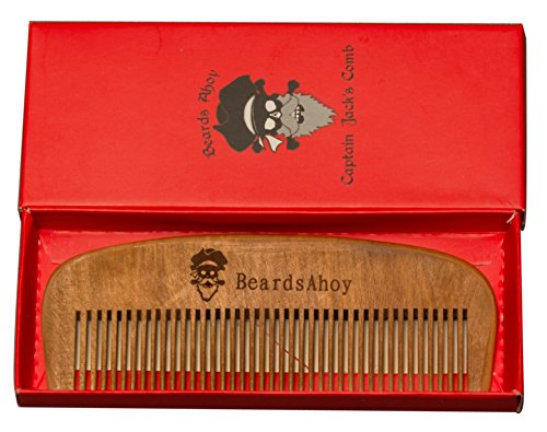 Captain-Jacks-Comb-Natural-Pear-Wood-Mens-Beard-Comb-and-Pocket-Comb-for-Beard-and-Mustache-Eliminates-tangle-frizz-and-static-By-Beards-Ahoy