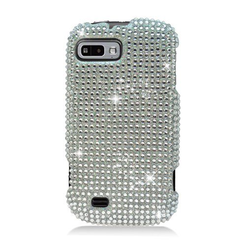 Eagle Cell Pdztefuryf377 Ringbling Brilliant Diamond Case For Zte Fury/Director - Retail Packaging - Silver