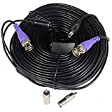 VideoSecu 150ft HD Security Camera Cable Pre-made All-in-One BNC Video Power Extension Wire Cord with BNC RCA Connectors for 720P 960P 960H CCTV Surveillance Camera DVR System CBHD150 WT4