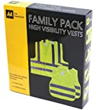 AA Car Essentials High Visibility Vest - Family Pack